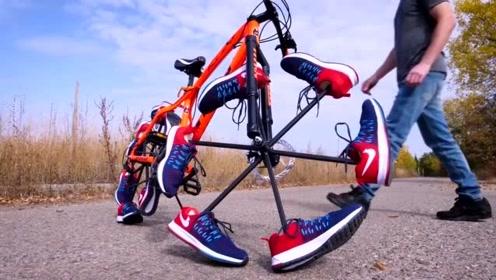 牛人最新研发的独造自行车、骑起来会是啥感觉呢!