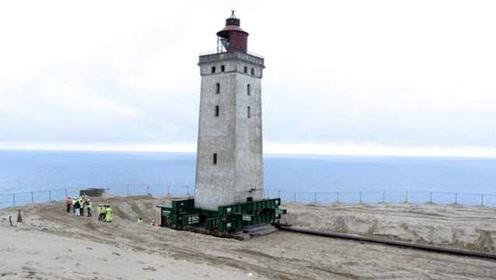 距离海岸仅6米,丹麦百年灯塔因海岸侵蚀被迫迁移