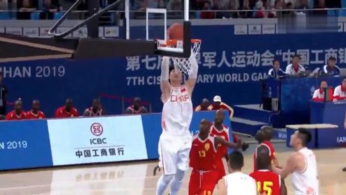 军运会中国队小组赛十佳球 王哲林过人飞身扣篮命中超远压哨