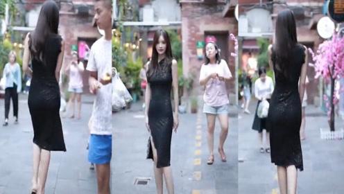 黑色的修身旗袍,这样穿搭,做全街最亮的崽!