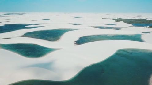 探秘世界上最神奇的沙漠,犹如白雪覆盖,沙漠中的水比沙子还多