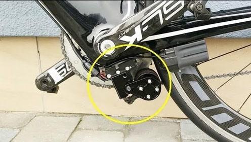 自行车装上这个小轮,秒变电动车,时速45公里还省力!