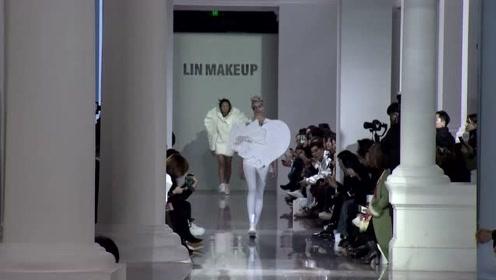 岳晓琳化妆造型品牌亮相时装周 胡军等嘉宾现场助阵