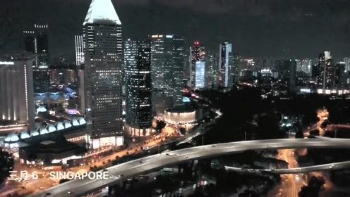 新加坡交通灯特点:机动车直行交通灯会和行人过路灯同时亮绿