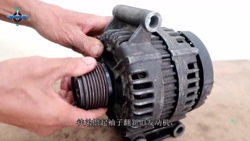 老师傅拿出旧发动机给徒弟,徒弟翻修2天后,老师傅只说了一句话
