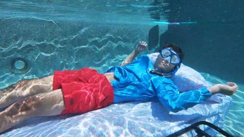不用设备能在水下待多久?成功者将获得10万美元,场面十分刺激!