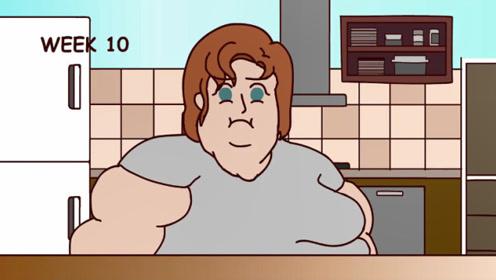 重达600斤肥胖女子,被暗恋男神嘲笑,疯狂减肥完美逆袭成女神!