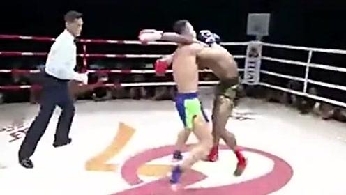 遇上对手了!泰拳王播求在中国遭遇国家队选手,被暴揍了一顿