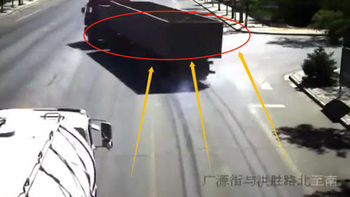 大货车突然打方向逼停罐车,看清楚前面的情况后,网友:货车司机救人一命!