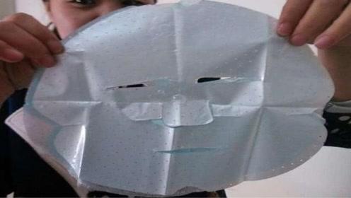 面膜上塑料纸有啥用?很多女生都扔掉了,难怪敷了没啥效果!