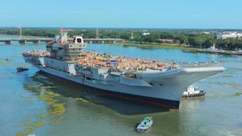 印度国产航母2020年完工有望?第三阶段建造合同签订,海试是重点!
