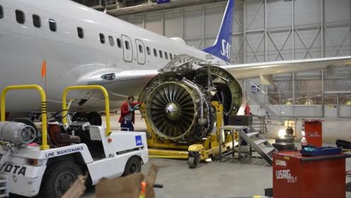 飞机换装发动机的过程,看过之后才知道机组后勤人员真的辛苦啊!