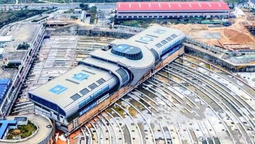 中国工程师,将30000吨的车站移动90°,这是人类从未有过的尝试!