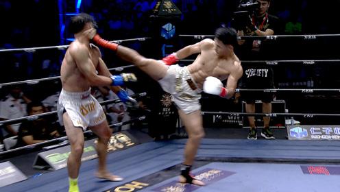 最凶狠中国拳王!欧洲冠军小动作欺骗裁判,被魏锐识破一脚踢KO