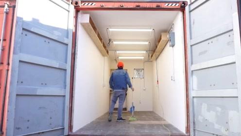 男子买了个报废集装箱,被他改造利用起来,真是捡了大便宜