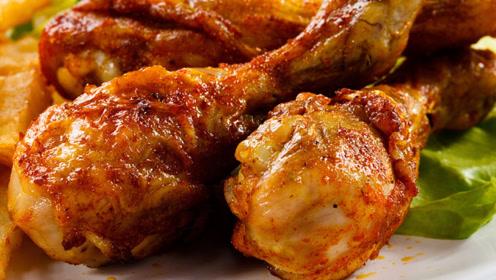 烤鸡腿别外面买着吃了,教你在家做,鲜嫩多汁不油腻,吃着真过瘾