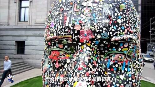 堪称世界上最恶心的雕塑,全身都粘满口香糖,背后原因让人意外