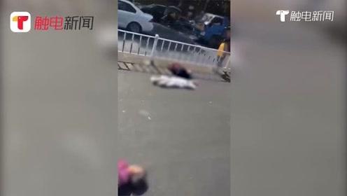 河源两老人过马路被货车撞飞,1人重伤1人当场死亡
