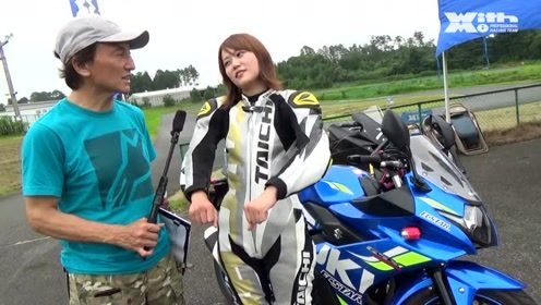 日本女骑士接受媒体采访,网友激动不已