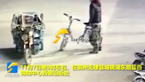 嚣张!滨州无棣一男子明目张胆偷盗电动车电瓶