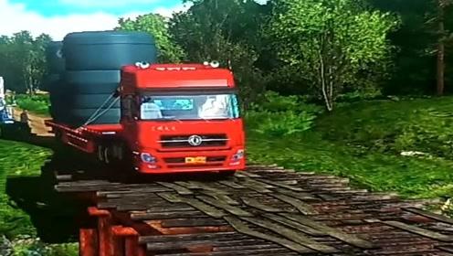 模拟驾驶:模拟驾驶大货车上路,场景太难了,A本确实难!