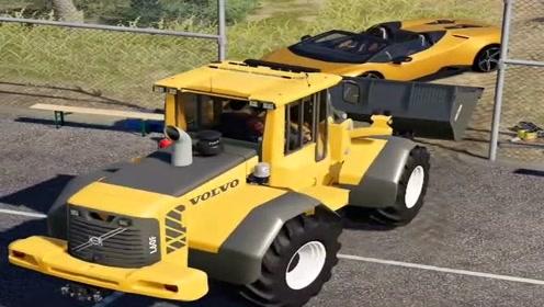模拟驾驶:模拟驾驶铲车上路,场景太真实,铲车司机不好干!