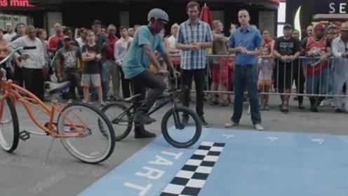 最奇葩的自行车,谁能骑行三米奖300美元,网友:我能让他破产!