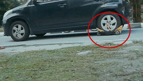汽车野外爆胎怎么办?国外发明应急轮胎,爆胎了也能让你正常行驶!