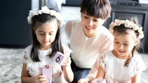 梁咏琪与女儿同框拍宣传片 萌娃穿白裙戴花环超可爱