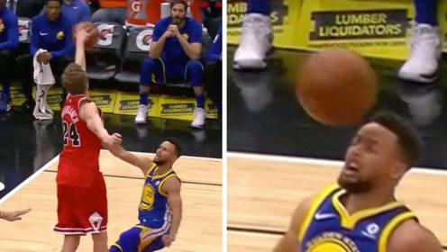 NBA赛场那些被球打脸瞬间 库里惨遭盖脸血帽