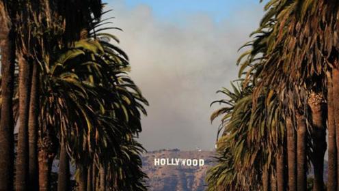 加州山火烧到了好莱坞 现场浓烟滚滚