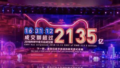 2135亿!双十一提前7.5小时超去年全天成交