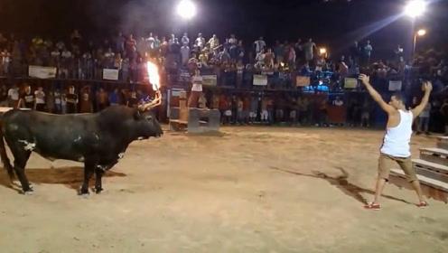 男子作死挑逗斗牛,接下来发生的事让人没想到,镜头拍下全过程
