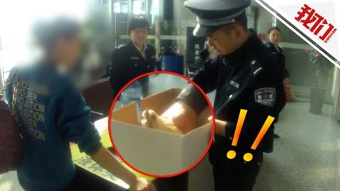 女子带活鸡坐高铁看呆安检员 被拦后民警帮忙杀鸡