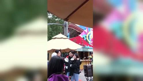 张翰徐璐拍戏现场,没想到两人看上去竟然这么配