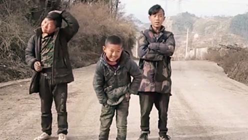 农村小学生带着两个初中生跳鬼步舞,音乐一响,艳压群芳!