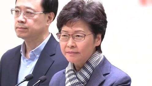 现场! 林郑月娥强烈谴责暴:暴徒放火烧市民 行为令人发指
