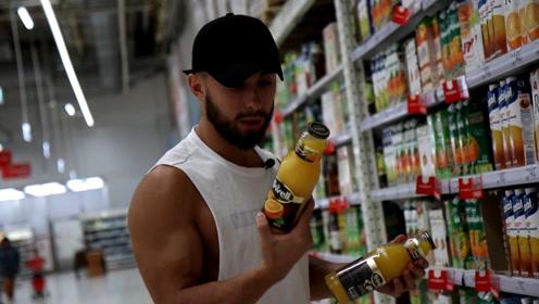 一到超市就买买买?看看这位健身小哥的购买路线,你学会了吗