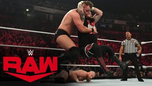 RAW1381期: 欧文斯断头台罗林斯断头脚 送全英冠军和帝国军团GG