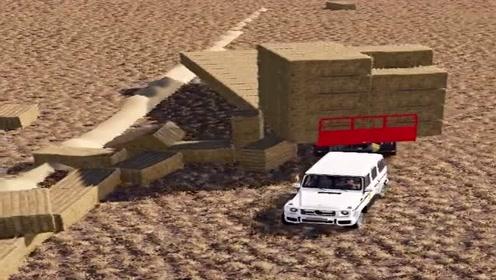 模拟驾驶:驾驶越野拉草料,场景设置太难了,新手根本开不了!