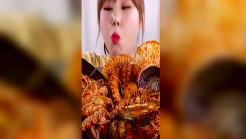 韩国Kani jjang开吃韩式辣炖海鲜, 八爪鱼、鲍鱼、 扇贝!