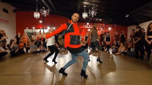 男人穿高跟鞋跳舞有多性感?腰一扭腿一伸,没女人什么事了!