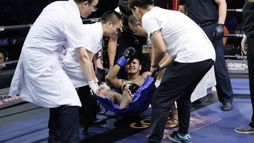 中国小将重拳高扫急速KO 吊打老外开场仅10秒被抬下擂台