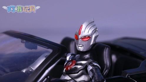暗黑欧布奥特曼:我也是有车一族啦,去跟赛罗好好炫耀一下!