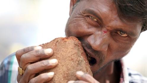 非洲一个地方吃土成瘾,把泥土做成饼随身携带,甚至还能卖钱