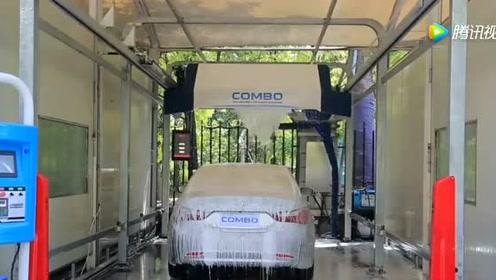 德国制造的全自动洗车机,不用人工操作,只需投币
