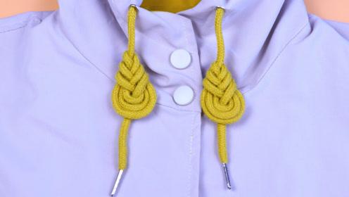 今年流行的卫衣帽绳打结方法,个性漂亮、养眼吸睛,关键方法超简单
