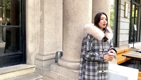 155矮个子女生的冬天穿搭,时尚保暖的棉服搭配,照着穿就很美