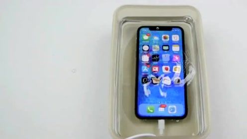 手机破坏测试又来了,用合成树脂浇铸iPhone X会发生什么?