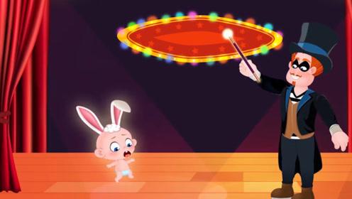 坏人王扮演魔术师,将男孩变成卡片,结果被妈妈轻松击败!